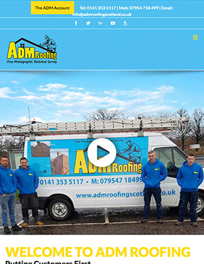 ADM Roofing ipad