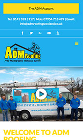 ADM Roofing iphone