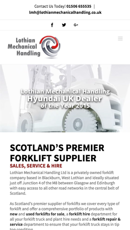 Lothian Mechanical Handling Responsive